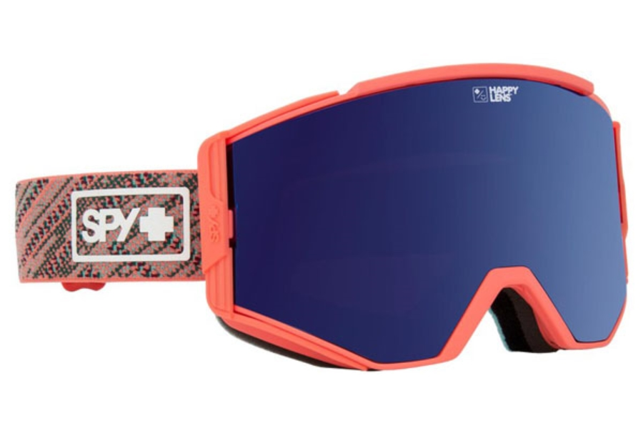 Spy ACE - CONTINUED Goggles in Knit Blush w/Happy Rose with Dark Blue Spectra + Happy Pink with Lucid Blue