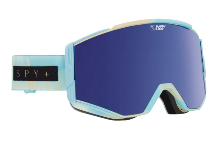 Spy ACE - CONTINUED Goggles in Aurora Light Blue / Happy Dark Blue Spectra + Happy Lucid Blue