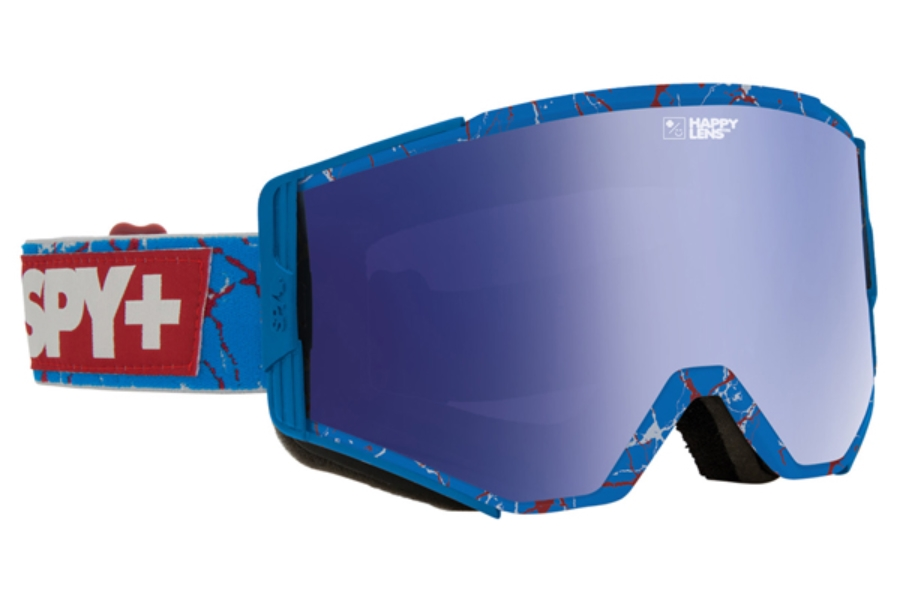 Spy ACE - CONTINUED Goggles in Spy + Louie Vito/Happy Bronze W/ Dark Blue Spectra + Happy Persimmon W/ Silver Mirror