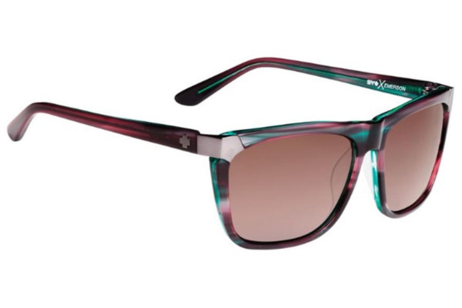 2f98f8a64e773 Spy EMERSON Sunglasses in Green Sunset   Happy Bronze Fade ...