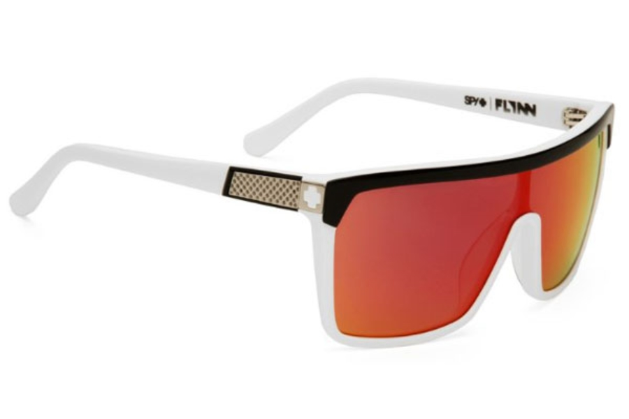 bd151c81a83e ... Spy FLYNN Sunglasses in Black White   Grey W  Red Spectra ...