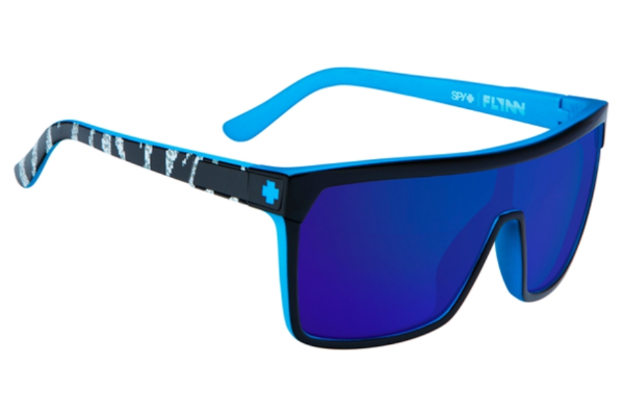 ce2593e5e9 Spy FLYNN Sunglasses in Ken Block Livery Black w  Happy Bronze w  Dark Blue  ...