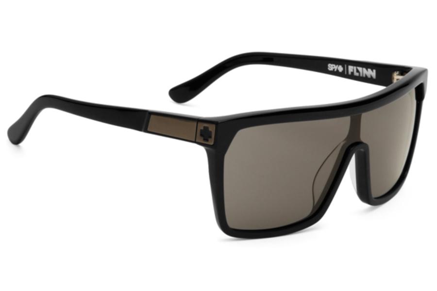 ea101d685ab2 ... Spy FLYNN Sunglasses in Matte Black Shiny Black Temples   Grey ...