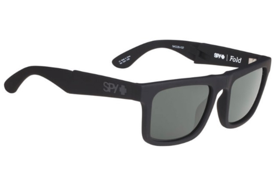 1e55f00a9c ... Spy FOLD Sunglasses in Soft Matte Black W  Happy Grey Green ...