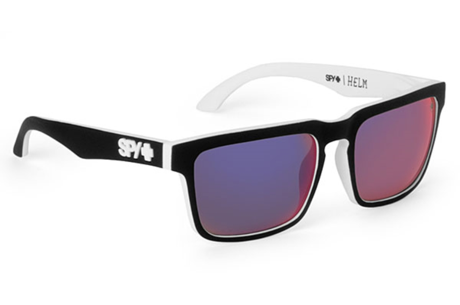 472af82afd0 ... Spectra Lenses  Spy HELM Sunglasses in Whitewall w  Grey w  Blue Mirror  Lenses ...