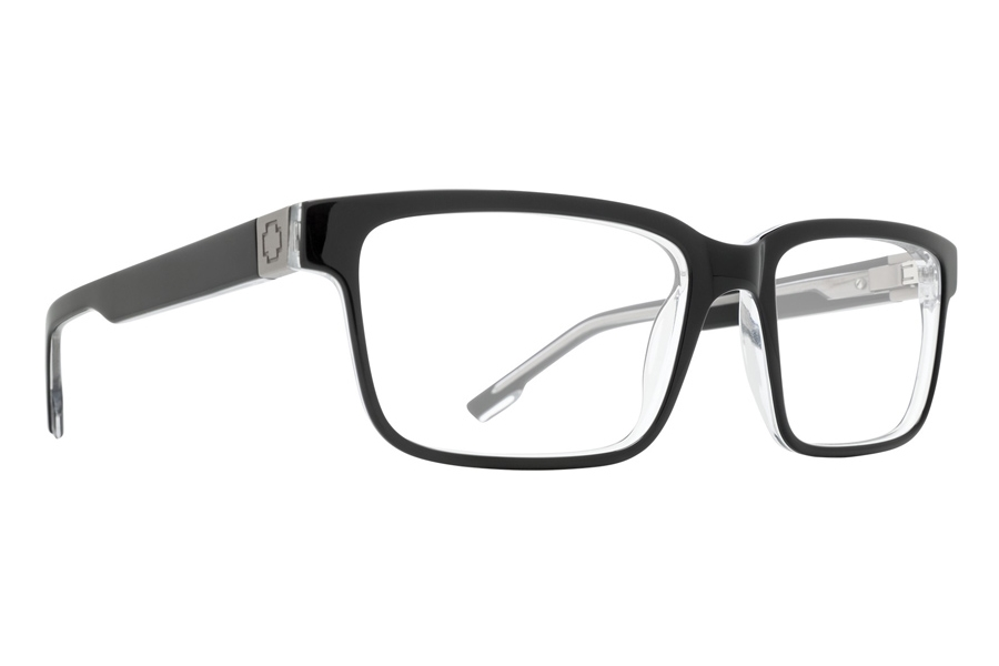 Spy Rafe Eyeglasses in Black Clear