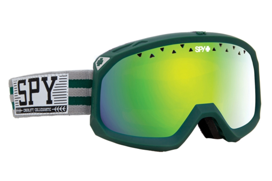 Spy TREVOR Goggles in Chairlift Collegiate w/ Yellow w/ Green Spectra