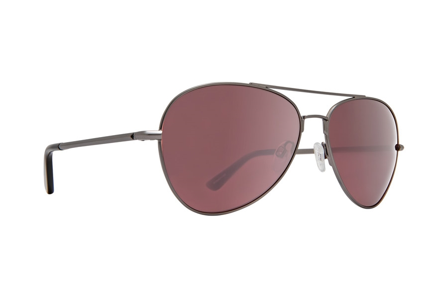 Spy WHISTLER Sunglasses in Matte Gunmetal w/Happy Rose Polar with Light Silver Spectra