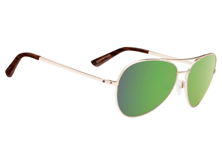 Spy WHISTLER Sunglasses in Gold / Happy Bronze w/ Green Spectra
