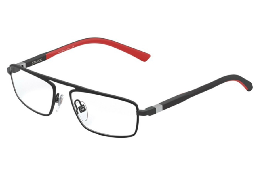 Starck Eyes SH2045 Eyeglasses in 0002 Black/Red
