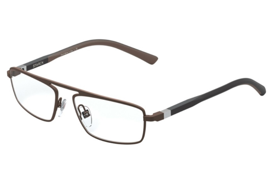 Starck Eyes SH2045 Eyeglasses in 0005 Matt Brown
