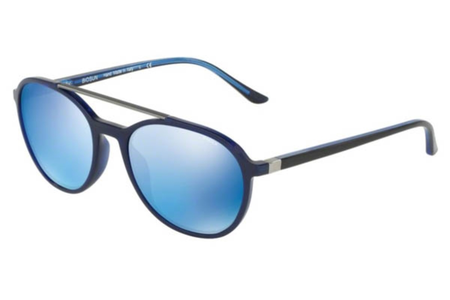 Starck Eyes SH5017 Sunglasses in 000355 Shiny Blue/Blue Mirror Blue