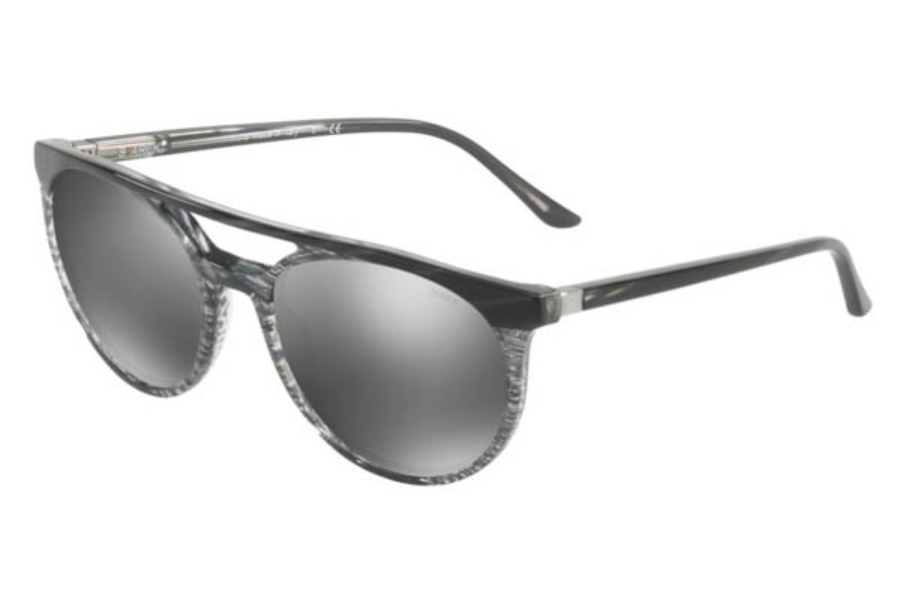 Starck Eyes SH5020 Sunglasses in 00046G Stripped Grey Grey/Dark Mirror Silver