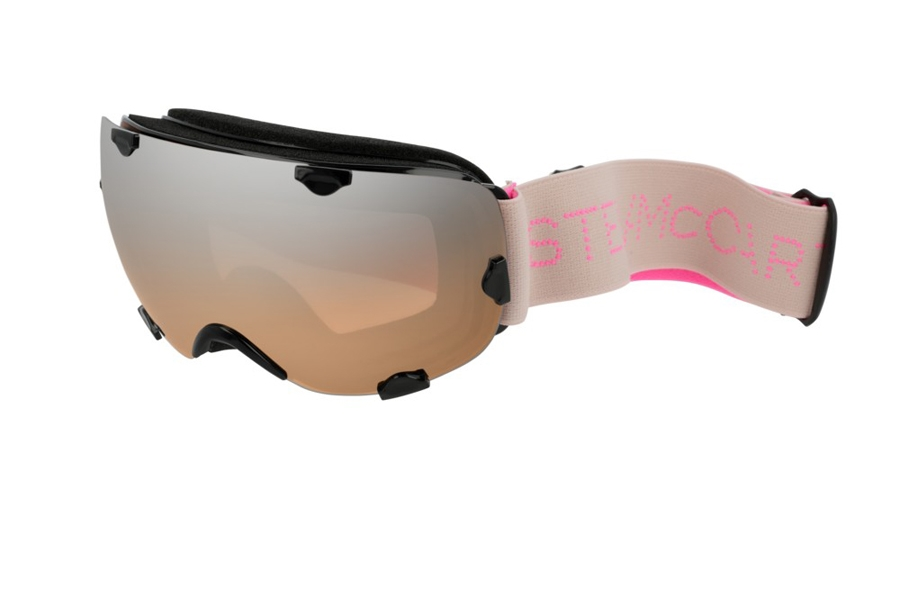 Stella McCartney SK0030S Goggles in 006 Black Pink/Silver Mirror