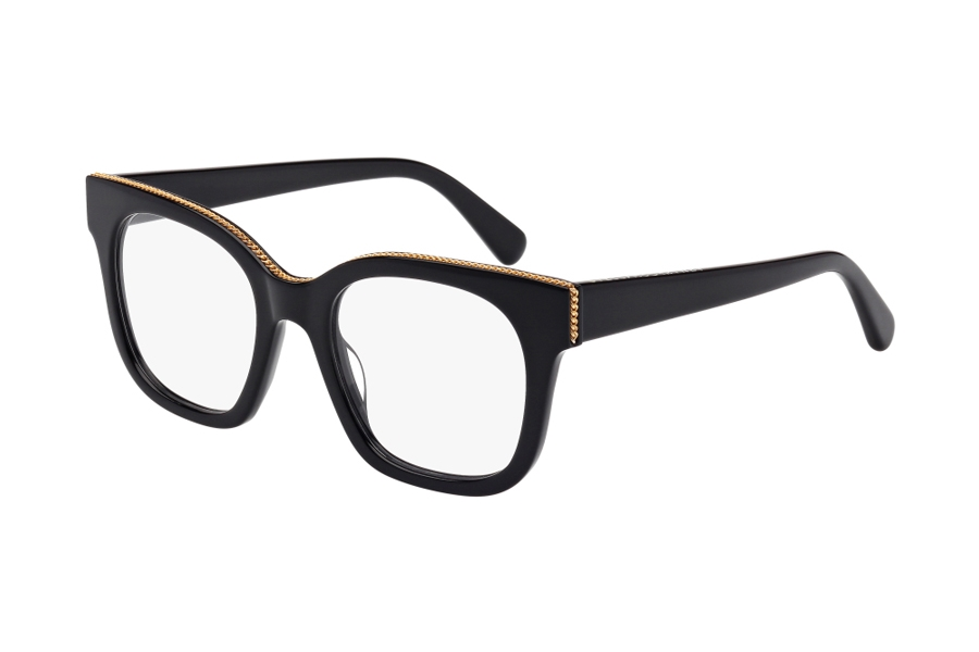 Stella McCartney SC0009O Eyeglasses in 001 Black with Gold Chain