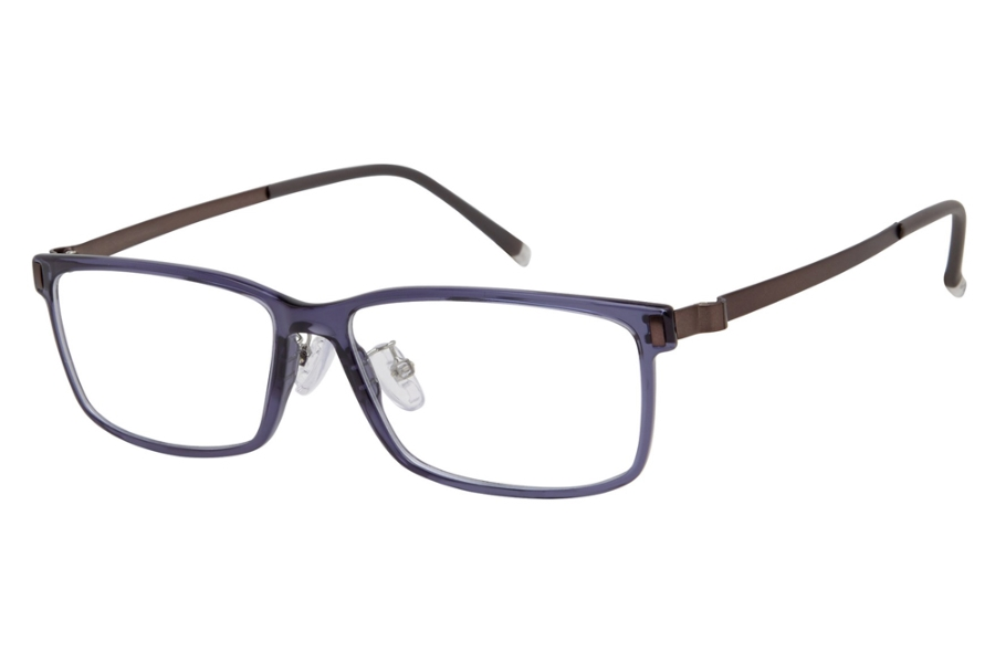 Stepper Stainless Steel 60024 STS Eyeglasses in F521 Blue
