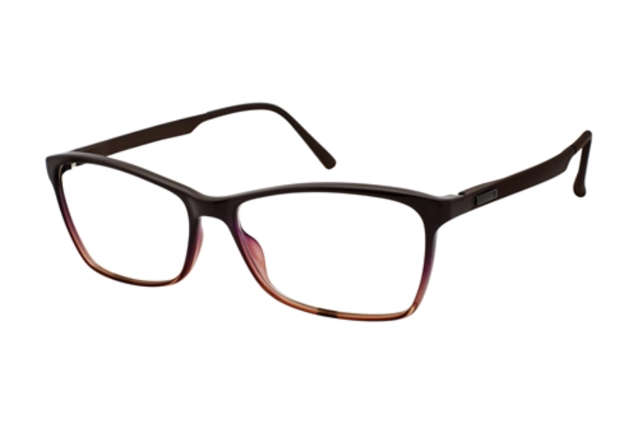 Stepper Stainless Steel 10060 STS Eyeglasses in F310 Brown