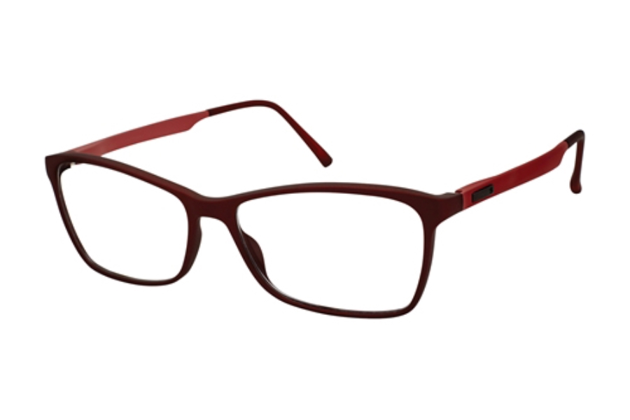 Stepper Stainless Steel 10060 STS Eyeglasses in F320 Burgundy