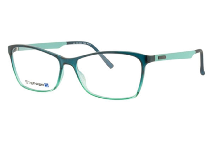 Stepper Stainless Steel 10060 STS Eyeglasses in F660 Teal