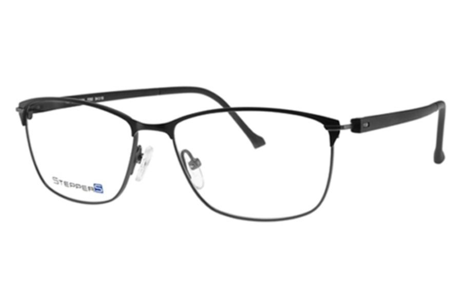 Stepper Stainless Steel 40104 STS Eyeglasses in F092 Black