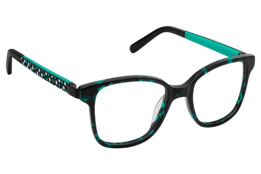 SuperFlex KIDS SFK-198 Eyeglasses in 2 Black Turquoise