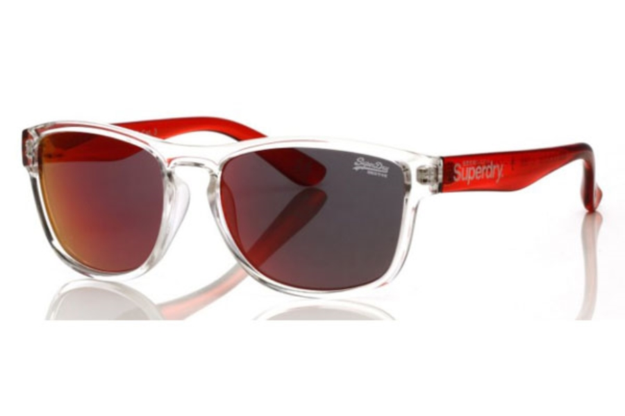 Superdry SDS-Rockstar Sunglasses in 186 Clr/Red