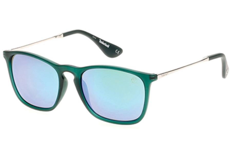 9b6c712274ce Timberland TB9072 Sunglasses in 97R Matte Dark Green Green Polarized ...