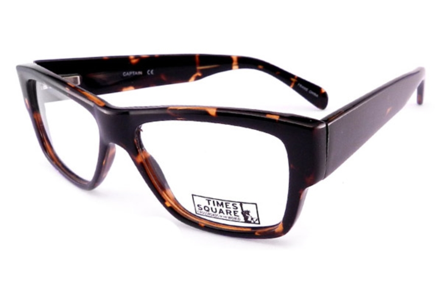 Times Square Captain Eyeglasses in Brown Stripes (Discontinued)