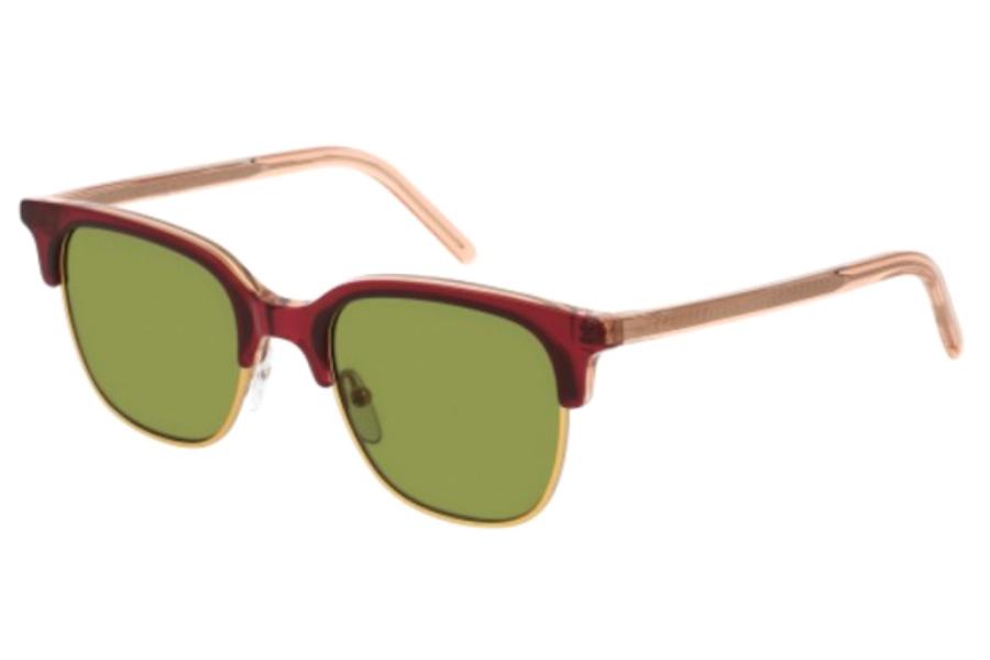 ORANGE GREY Sunglasses Tomas Maier TM 0021 S 003 GREEN