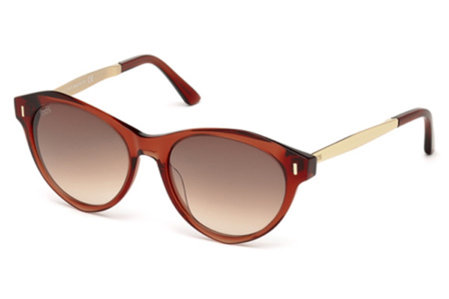 Tod's TO 0168 Sunglasses in 42F - Shiny Orange / Gradient Brown