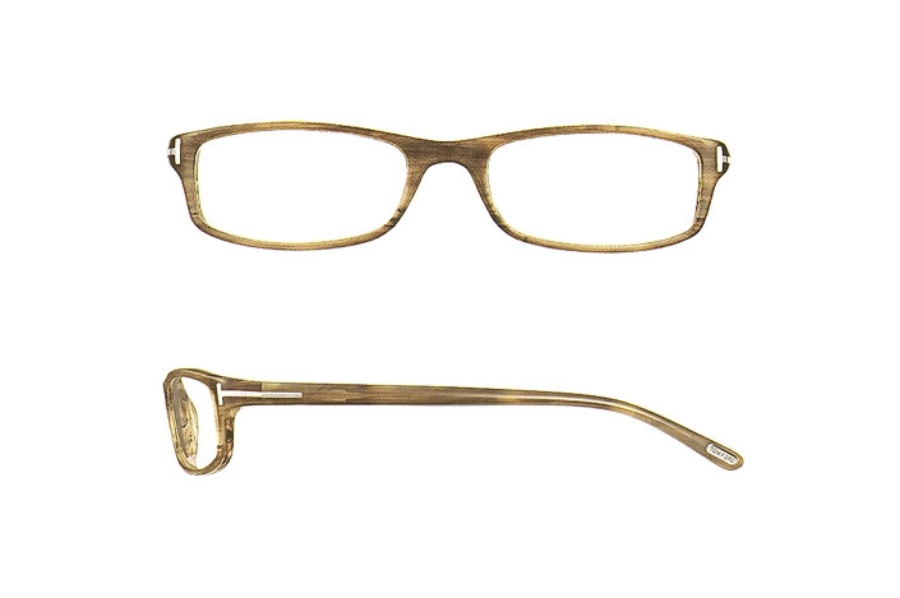 Tom Ford FT5006 Eyeglasses in (376) WOOD EFFECT TOBACCO HAVANA