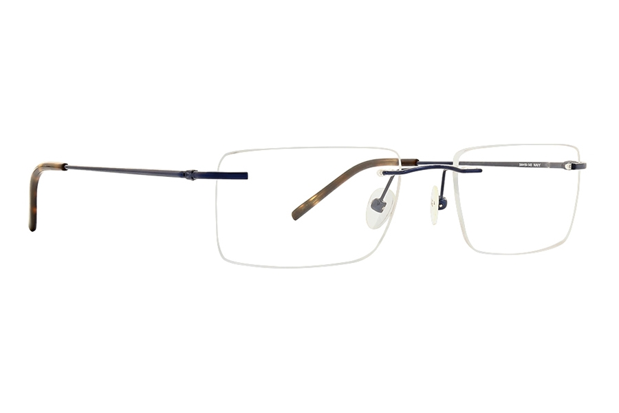 Totally Rimless TR Connection 267 Eyeglasses in Navy