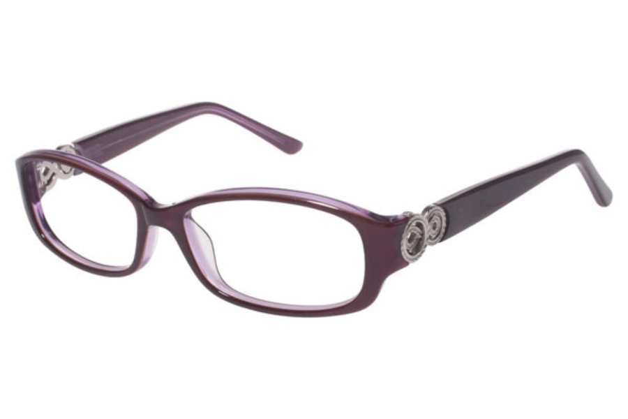 Tura R508 Eyeglasses in PUR Purple w Silver