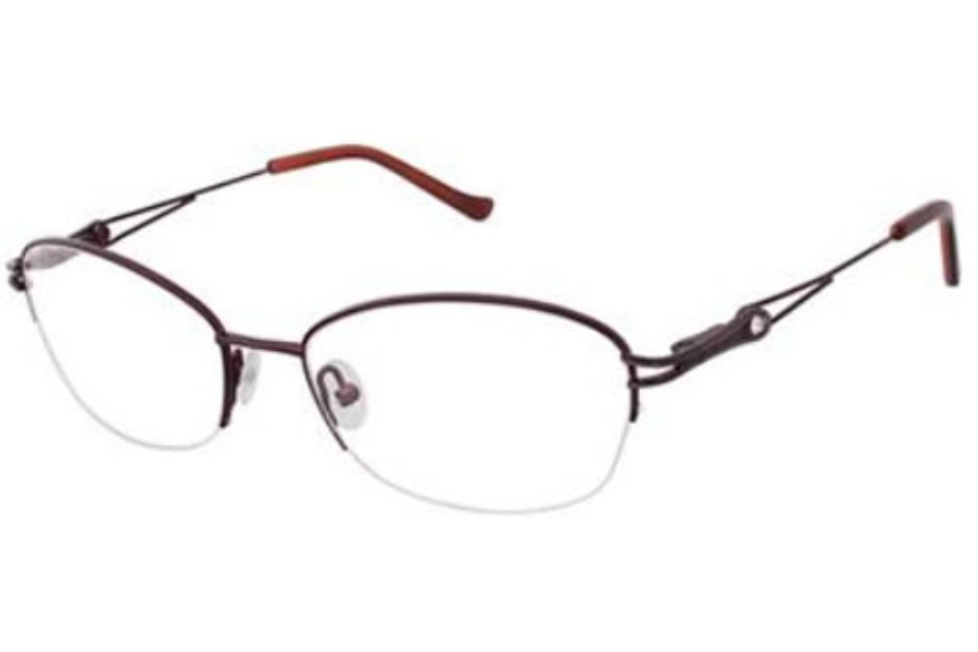 Tura R520 Eyeglasses in Wine/Gun