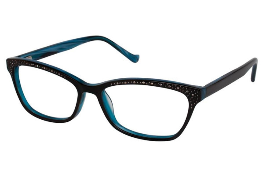 Tura R616 Eyeglasses in BLC Black / Teal