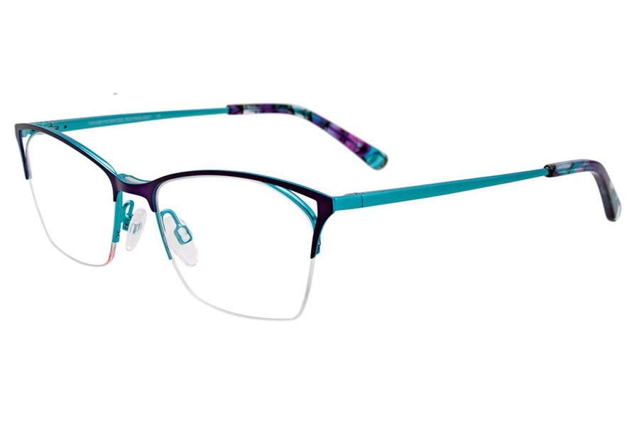 Takumi TK1087 Eyeglasses in 80 Satin Purple/ Turquoise
