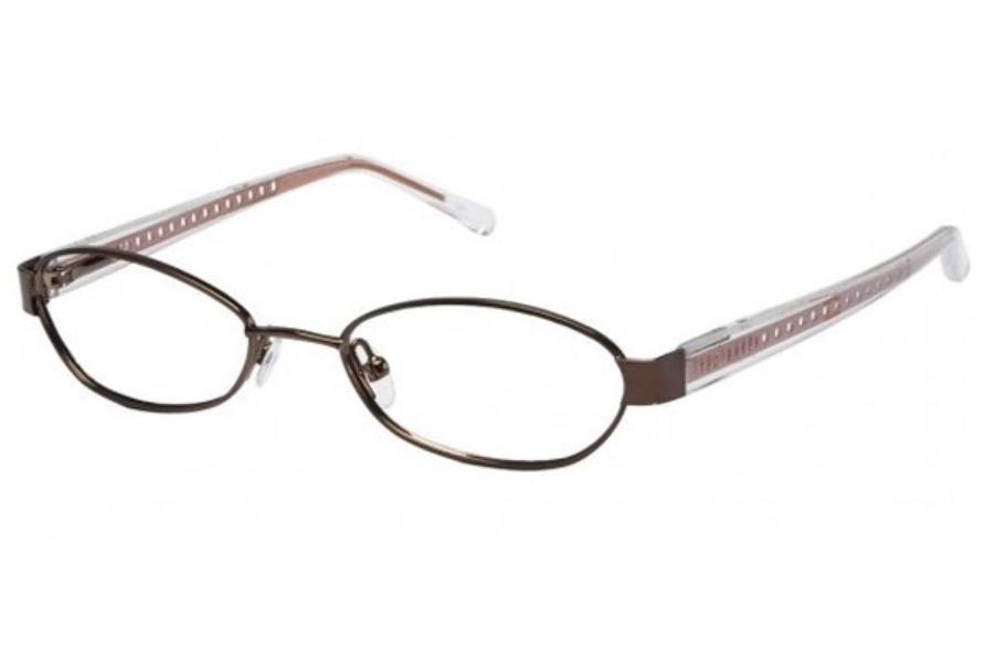 Ted Baker B161-Buzzin Eyeglasses in BROWN W/ORANGE TEMPLES