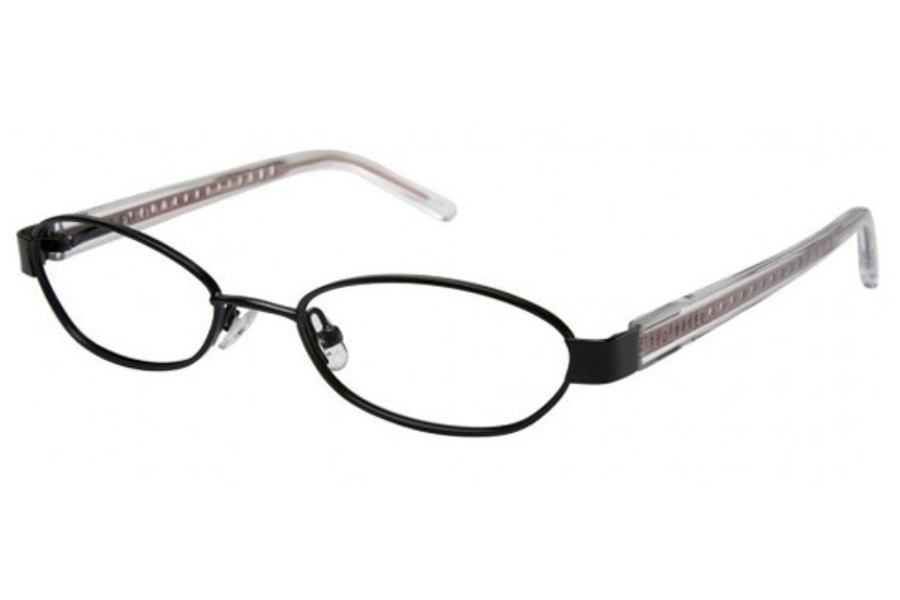Ted Baker B161-Buzzin Eyeglasses in EBONY W/RED TEMPLES