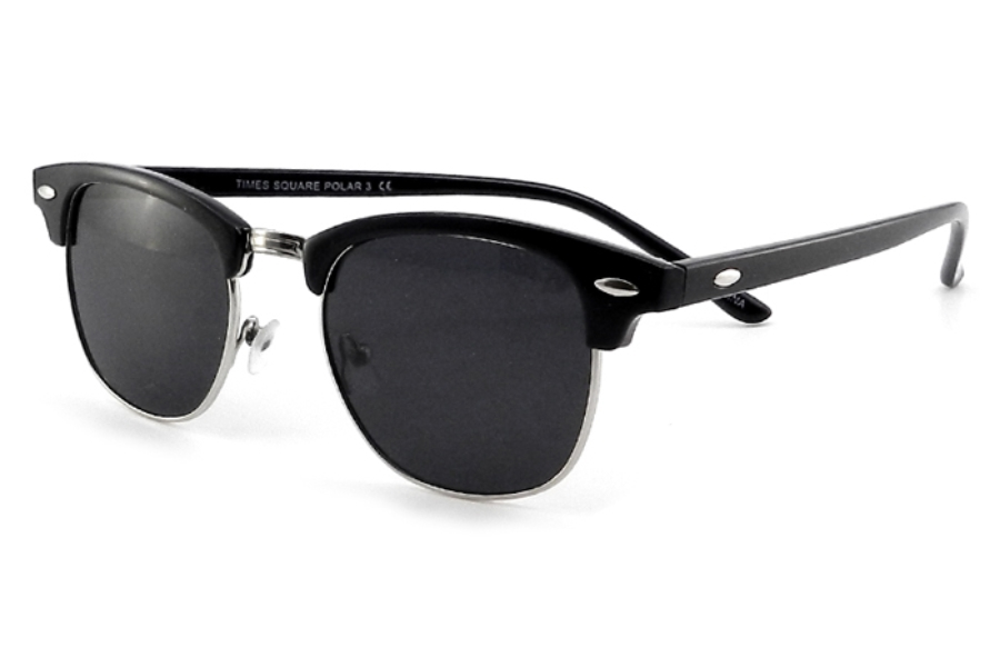 Times Square Polar 3 Sunglasses in Black/Silver