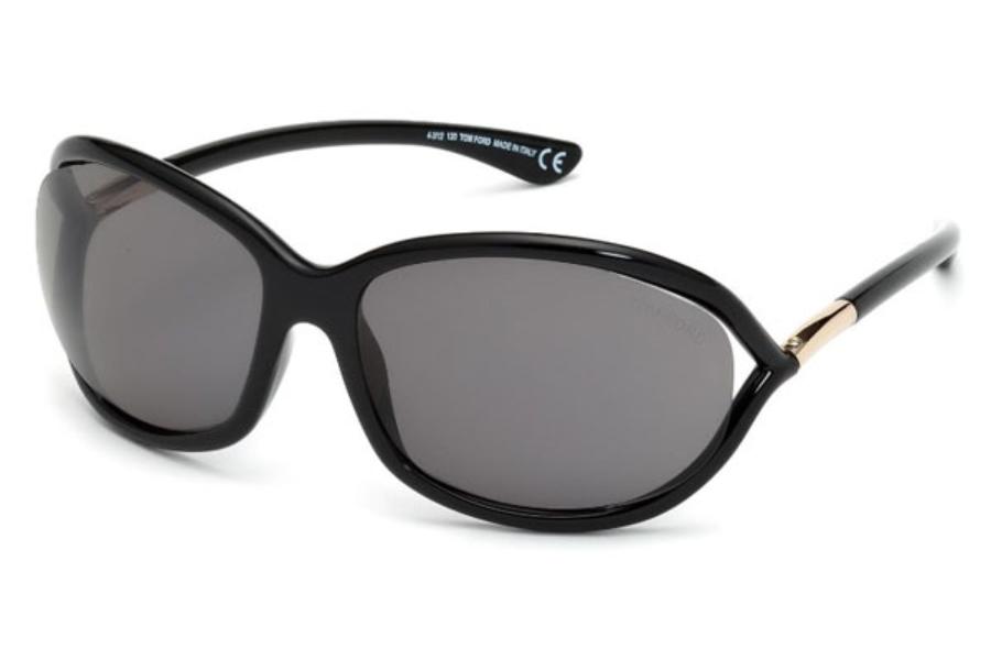 f8915be12829e Tom Ford FT0008 Jennifer Sunglasses in 01D - Shiny Black   Smoke Polarized  ...