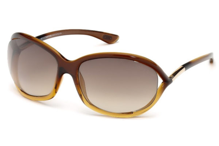 Tom Ford FT0008 Jennifer Sunglasses in 50F - Dark Brown/other / Gradient Brown