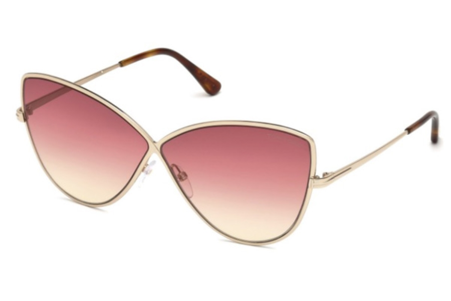 Tom Ford FT0569 Elise-02 Sunglasses in 28T - Shiny Rose Gold / Gradient Bordeaux
