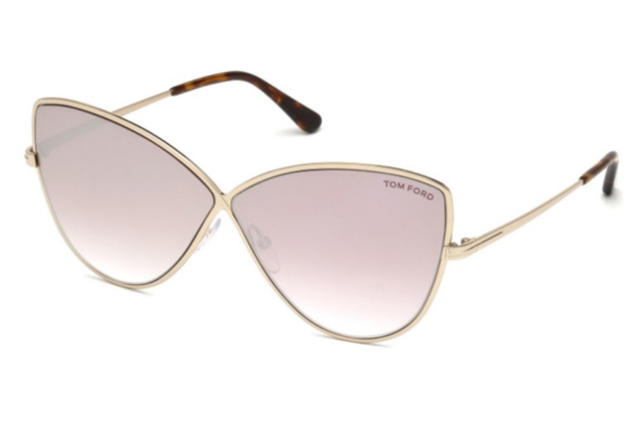 Tom Ford FT0569 Elise-02 Sunglasses in 28Z - Shiny Rose Gold / Gradient
