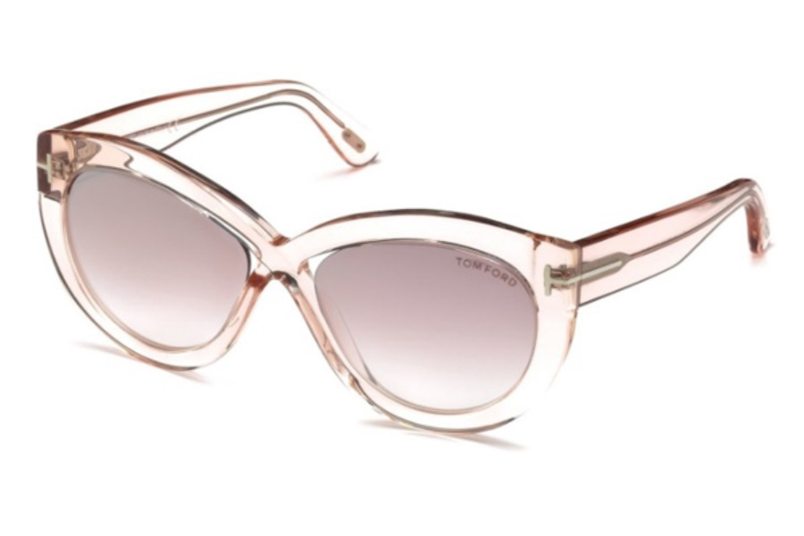 Tom Ford FT0577 Diane-02 Sunglasses in 72Z - Shiny Pink / Gradient Or Mirror Violet