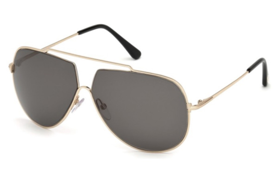 Tom Ford FT0586 Chase-02 Sunglasses in 28A - Shiny Rose Gold / Smoke