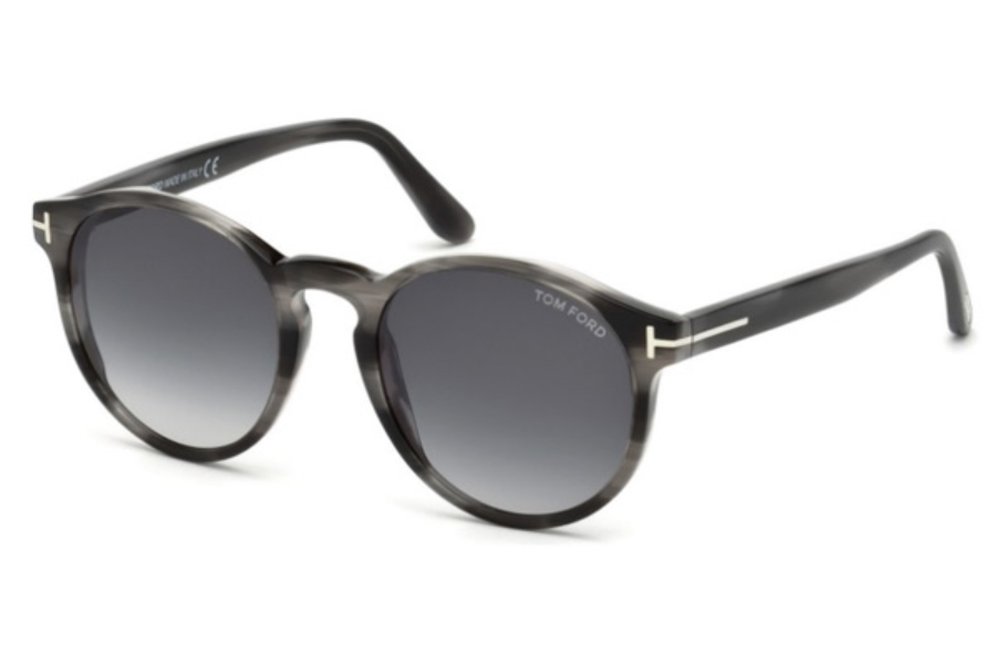 Tom Ford FT0591 Ian-02 Sunglasses in 20B - Grey/Other / Gradient Smoke