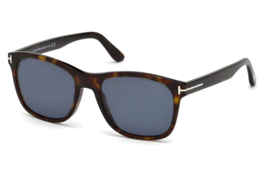 Tom Ford FT0595 Eric-02 Sunglasses in 52D - Dark Havana / Smoke Polarized
