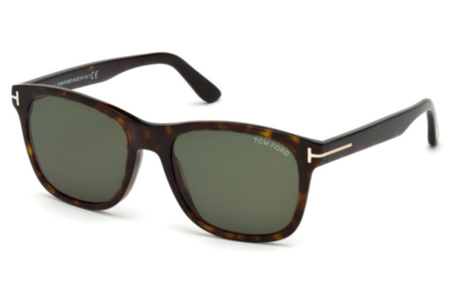 Tom Ford FT0595 Eric-02 Sunglasses in 52N - Dark Havana / Green