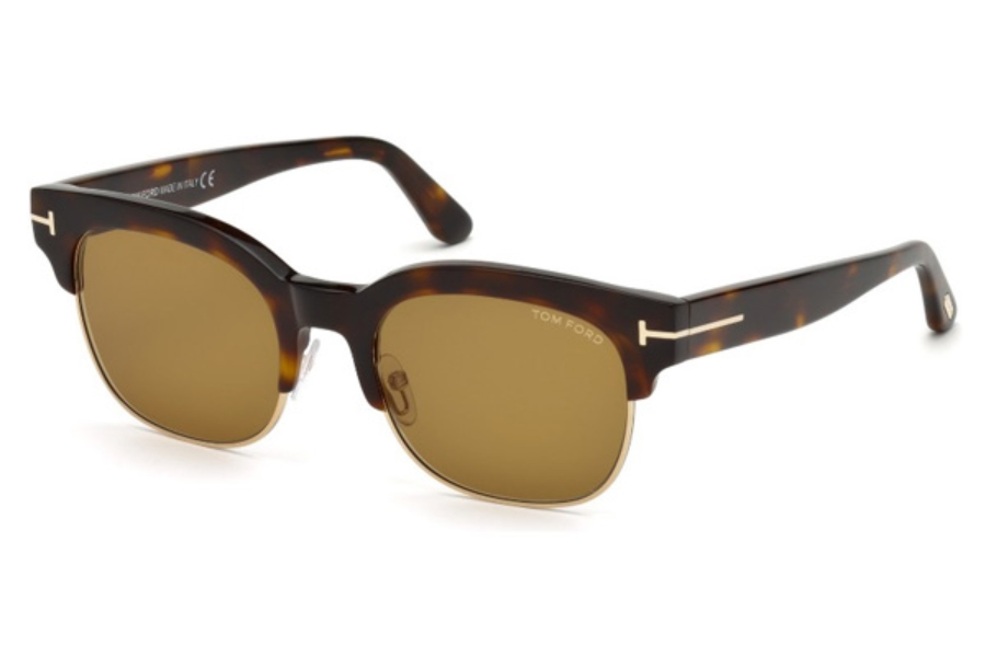 Tom Ford FT0597 Harry-02 Sunglasses in 56E - Havana/Other / Brown