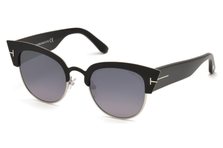 Tom Ford FT0607 Alexandra-02 Sunglasses in 05C - Black/Other / Smoke Mirror